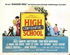 HIGH SCHOOL CONFIDENTIAL Movie Poster Jerry Lee Lewis