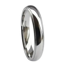 3mm UK HM 950 Platinum 5.2 - 6.3g Millgrained Court Comfort Wedding Band Ring