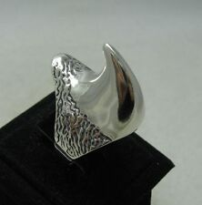 STERLING SILVER RING SOLID 925 RHINOCEROS BIKER CLAW NEW SIZE L - Z