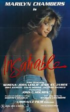 INSATIABLE Movie Poster Marilyn Chambers XXX Exploitation