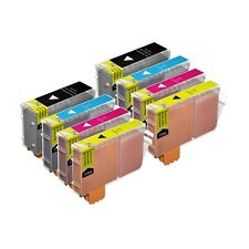 8 Compatible BCI-6CMY / BCI-3EBK Printer Ink Cartridges for Canon BJC-3000 &more