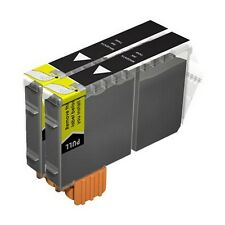 2 Compatible BCI-6BK Black Ink Cartridges for Printers inc Canon MP C600f & more