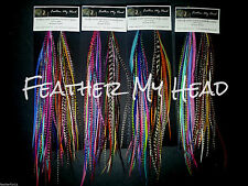 Feather Hair Extensions, Salon Kit Available, Premium Grade Long Whiting Euro