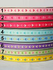 5yds~~10mm Hearts Printed Grosgrain Ribbon- 8 Colours U PICK