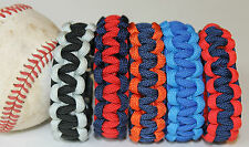 Baseball Paracord Bracelet Team Colors MLB Inspired AMERICAN LEAGUE CENTRAL