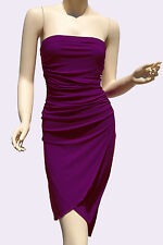 Strapless Dresses Party Cocktail Womens Style Clubwear Purple Mini Dress S M L