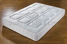 "QUILTED 3FTSINGLE 4FT6 DOUBLE 5FT KING MEMORY FOAM MATTRESS 10"" USE ON ANY BED"