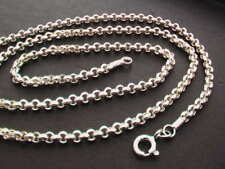 """925 Sterling Silver Rolo Link Chain. 2.6mm. 18"""" (46cm) - 22.5"""" (57cm)"""