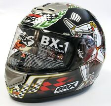 BOX BX-1 BX1 ISLE OF MAN TT ROAD RACE FULL FACE MOTORCYCLE MOTORBIKE HELMET