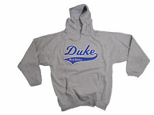 DUKE BLUE DEVILS ADULT GREY EMBROIDERED HOODED SWEATSHIRT NWT