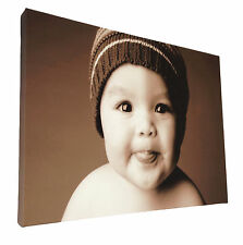 Your Picture Image Photo On Personalised Box Canvas Size 40x30 inch / 30x40 inch