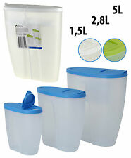3 Pack Plastic Dry Dried Food Cereal Pasta Storage Dispenser Pet Container Box