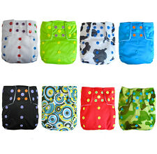 baby color snap diaper U PICK CLOTH Re-useable NAPPY Double gussets +1INSERT new