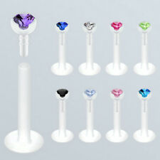 Bio-Flex Push-In Labret Monroe Clear Bio Flex Prong