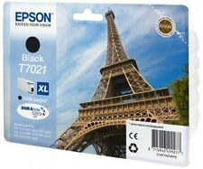 Genuine Epson T7021 / C13T70214010 Black XL Printer Ink Cartridge Eiffel Tower