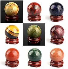 Kinds of material 30mm Around Ball Gemstone for room decoration