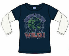 New Junk Food The Hulk Born to Be Wild Kids 2fer T-Shirt Infant Toddler