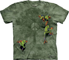 Victory Peace Tree Frog The Mountain Adult & Youth T-Shirts