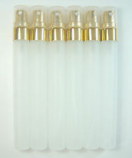 10ml. Empty Perfume Glass Bottle Atomizer Spray Gold Caps. [Select Lot 6-24Pcs.]