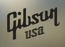 """(2) 8"""" GIBSON USA guitar vinyl Decal sticker any size color surface car  S495"""
