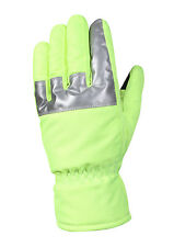 GLOVES SAFETY GREEN WITH REFLECTIVE TAPE NYLON VARIOUS SIZES AVAILABLE 5487