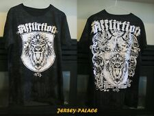"Affliction Mens BLACK ""Live Fast"" Lion T-Shirt TEE NWT Size M L XL Free Shipping"