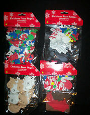 NEW CHRISTMAS FOAM SHAPES FOR ALL CRAFTS 4 TO PICK * Letters Numbers candy Shop