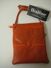 GENUINE LEATHER CROSS BODY SHOULDER  BAG. MANY DIFFERENT COLORS. MADE IN U.S.A.