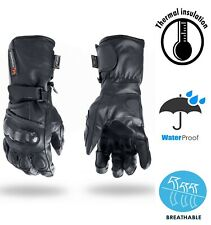 Leather Motorbike Gloves Racing Carbon Knuckle Protection