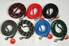 """STRONG NYLON ROPE Dog Lead 47"""" / 120cm LONG 8mm thick Black Red Grey Blue & more"""