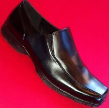 NEW Men's APT. 9 REID Black Leather Loafers Slip On Formal Casual/Dress Shoes