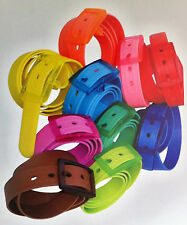NEW Rubber Vinyl Plastic Silicone Casual Belt With Buckle  One Size Fits All