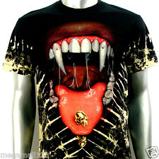 SPECIAL Survivor T-Shirt Sz S M L XL XXL Mouth Punk Tattoo Biker Heavy Metal S15