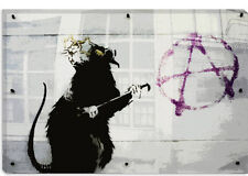 Banksy Anarchy Rat Canvas Print Picture Wall Art - 10 SIZES!