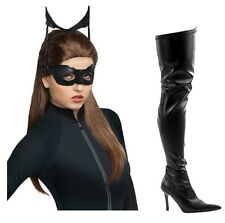 The Dark Knight Rises Catwoman Anne Hathaway Wig & FELINE black boots