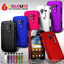 HARD BACK SKIN CASE COVER, FILM & MINI STYLUS FOR SAMSUNG GALAXY ACE 2 I8160
