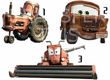 CARS 2 STICKER WALL DECO DECAL DISNEY CHEWALL TRACTOR FRED FRANK