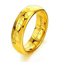 mens Titanium gold LORD OF THE RINGS FREE SHIP FROM UK LIMITED TIME
