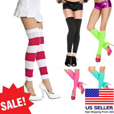 Bold Color Sexy Acrylic Knit Thick Leg Warmer Long Thigh/Knee High Dancerwear OS