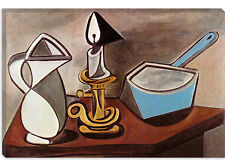 Pitcher & Candle by Pablo Picasso  Canvas Print Picture Wall Art - 10 SIZES!