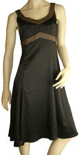 Size 12 MEI MEI Black Cocktail Evening Formal V Neck Gold Fleck Dress Party