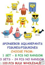 SPONGEBOB SQUAREPANTS FIGURES FIGURINES CHOOSE 8PCS / 24 PCS / 100 PCS BULK NEW
