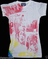 New Authentic Junk Food Blondie Pattern Juniors T-Shirt in White CLEARANCE