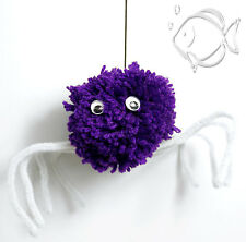 Make Your Own Halloween Pompom Spiders or Monsters - kids craft kits for 6 or 30