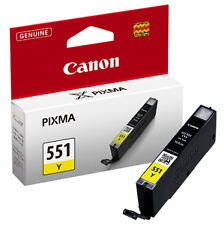 Genuine Canon CLI-551 Yellow Printer Ink Cartridge