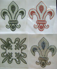 FLEUR-DE-LIS RHINESTONE IRON ON APPLIQUE / HOT FIX TRANSFER
