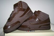 Women's NEW Fila F-13 WT FB/SYN Brown Athletic Shoes with Faux Brown Patent Trim