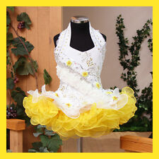 Girl's Angels Glitz National Pageant Dress Yellow 1~10T