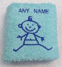 Personalised Baby Boy Towel Sets Name 100% Cotton Embroidered Christening