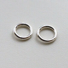 2 X Strong Solid Sterling 925 Silver 8mm Jump Rings FREE POSTAGE!